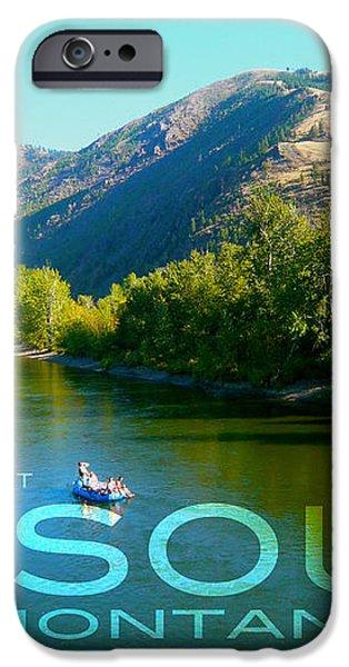 A River Runs Through It Missoula Montana iPhone Case by Teshia Art