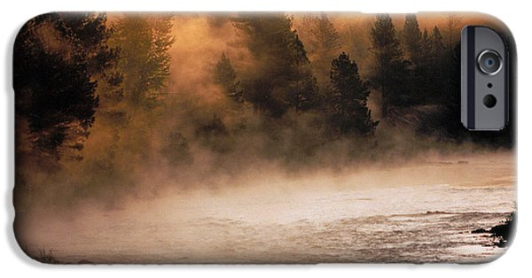 Western Landscape iPhone Cases - A River Runs Through It iPhone Case by Thomas Schoeller