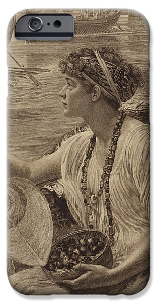 Hairstyle iPhone Cases - A Roman Boat Race iPhone Case by English School