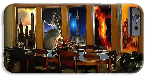 Interior Scene Mixed Media iPhone Cases - A Room with Scenic Views iPhone Case by Mario Carini