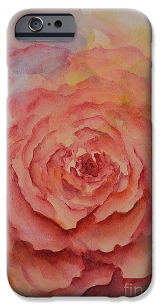 Garden Ceramics iPhone Cases - A Rose Beauty iPhone Case by Kathleen Pio
