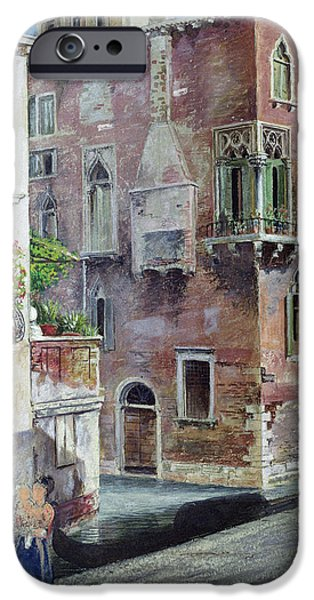 House iPhone Cases - A Scene In Venice iPhone Case by Sir Caspar Purdon Clarke