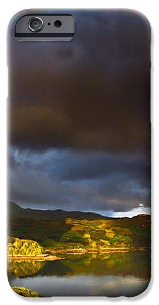 A Scottish Highland Rainbow Kylesku iPhone Case by John Farnan