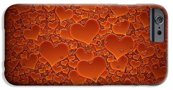 Animation iPhone Cases - A Sea of Hearts iPhone Case by Gianfranco Weiss