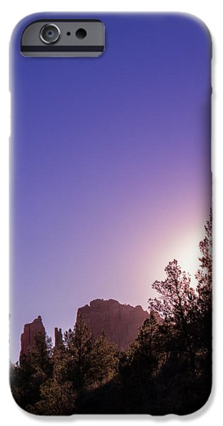 Best Sellers -  - Cathedral Rock iPhone Cases - A Sedona Sun Rises iPhone Case by Wasim Muklashy