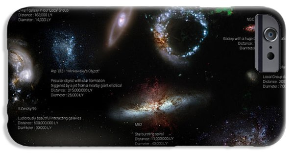 Disc iPhone Cases - A Selection Of Galaxies Smaller Than iPhone Case by Rhys Taylor