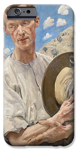 Ww1 Paintings iPhone Cases - A Sergeant of the Light Horse iPhone Case by Pg Reproductions