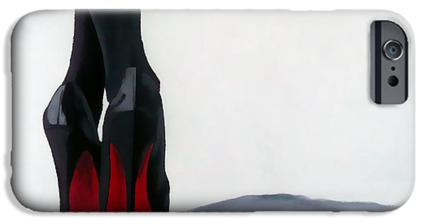 Fashion Abstract iPhone Cases - A Shade Of Louboutin iPhone Case by Rebecca Jenkins