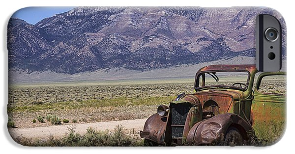Rust iPhone Cases - A Shellbourne Nevada Relic iPhone Case by Priscilla Burgers