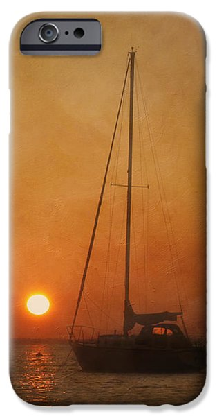 Boat iPhone Cases - A Ship in the Night iPhone Case by Kim Hojnacki