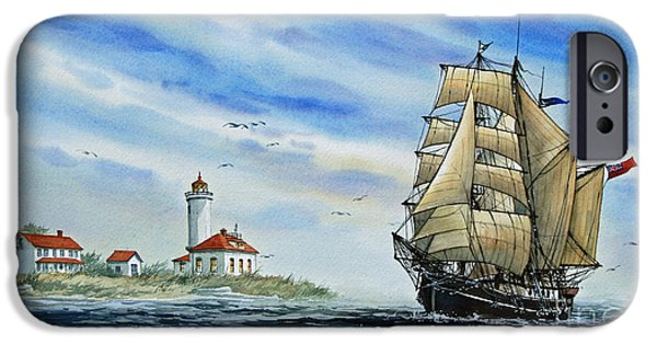 Tall Ship iPhone Cases - A Ship There Is iPhone Case by James Williamson