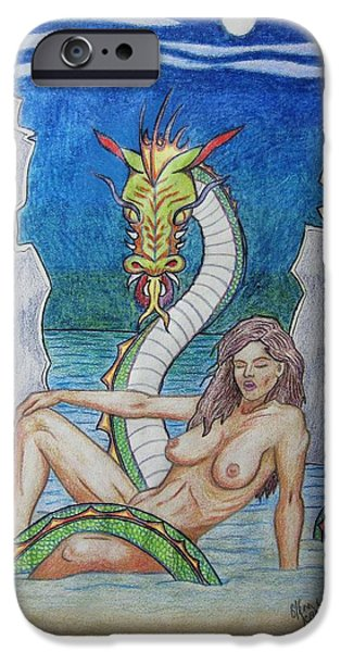 Serpent iPhone Cases - A Shore Thing iPhone Case by Glenn Scano