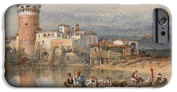 Fine Artwork iPhone Cases - A Sicilian Village iPhone Case by William Leighton Leitch