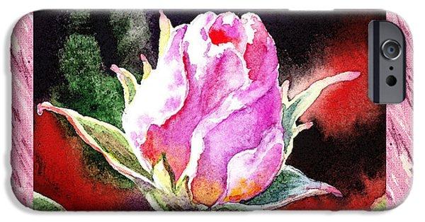 Important Paintings iPhone Cases - A Single Rose Pink Impressionism  iPhone Case by Irina Sztukowski