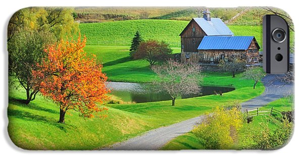 Sleepy iPhone Cases - Sleepy Hollow Autumn - Pomfret Vermont iPhone Case by Thomas Schoeller