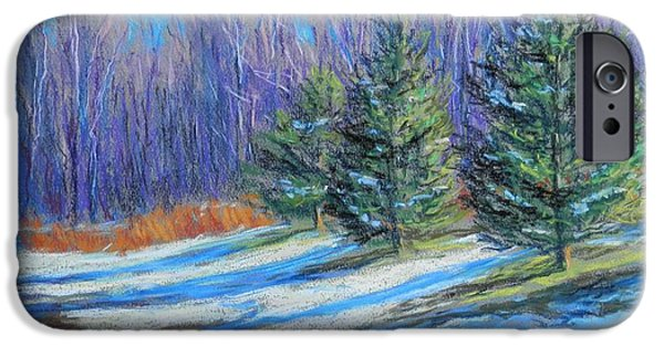 Snow Pastels iPhone Cases - A Slight Thaw iPhone Case by Michael Camp