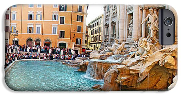 Strange iPhone Cases - A Slow Day at the Trevi Fountain iPhone Case by Evan Peller
