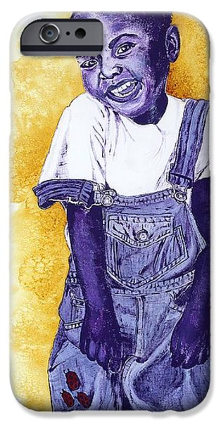 Missing Child iPhone Cases - A Smile for You from Haiti iPhone Case by Margaret Bobb