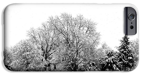 Snowy Day iPhone Cases - A Snowy Day in December iPhone Case by Luther   Fine Art