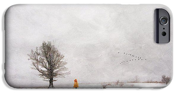 Snowy Day iPhone Cases - A Snowy Stroll iPhone Case by Darren Fisher