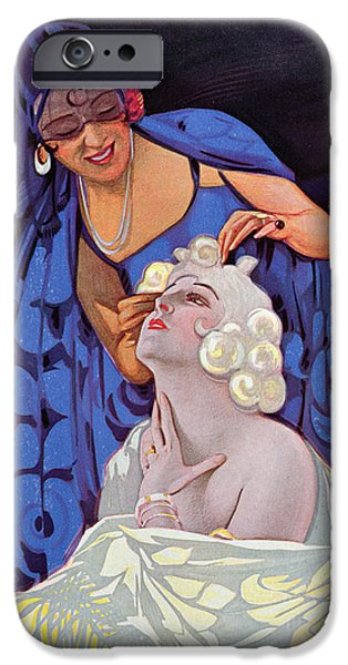 Hairstyle iPhone Cases - A Spanish Hairdresser iPhone Case by Vila