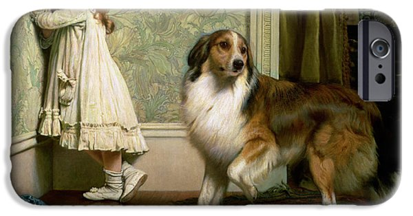 Interior Scene iPhone Cases - A Special Pleader iPhone Case by Charles Burton Barber
