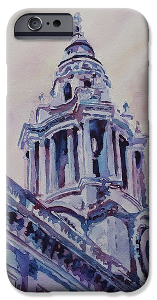 Saint Christopher iPhone Cases - A Spire of Saint Pauls iPhone Case by Jenny Armitage