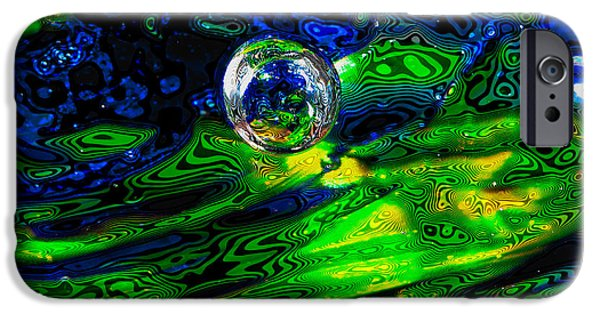 Glass Reflections iPhone Cases - A Splash of Seahawks iPhone Case by David Patterson
