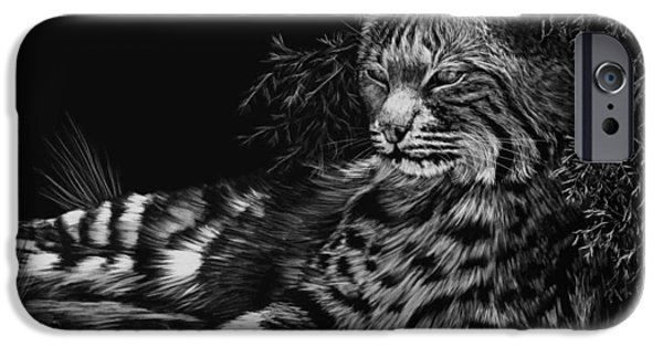 Animal Drawings iPhone Cases - A Spot of Shade iPhone Case by Heather Ward