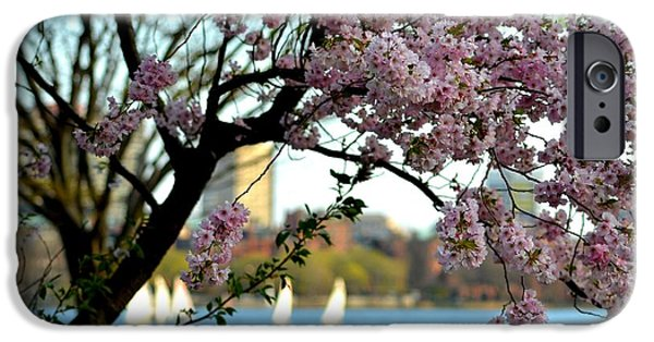 Oxford. Oxford Ma. Massachusetts iPhone Cases - A spring day on the Charles River iPhone Case by Toby McGuire