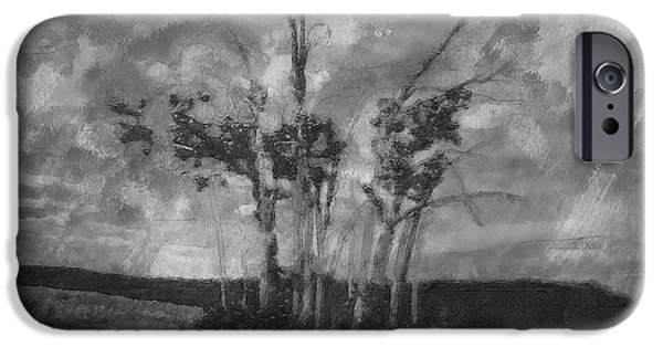 Tree Art Print iPhone Cases - A Stand of Autumn Trees iPhone Case by Mario Carini