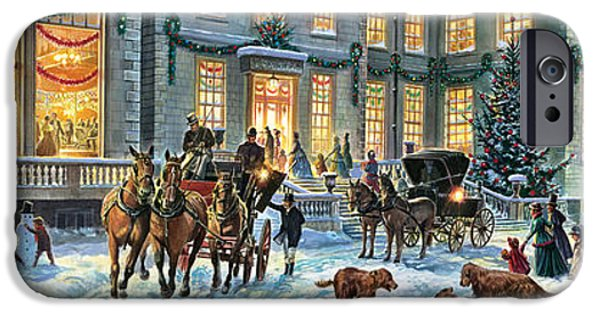 Carriages iPhone Cases - A Stately Christmas iPhone Case by Steve Crisp