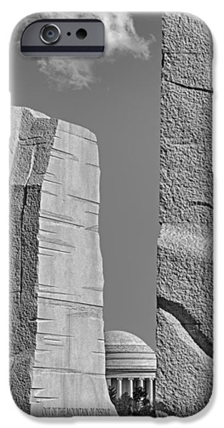 A Stone Of Hope BW iPhone Case by Susan Candelario