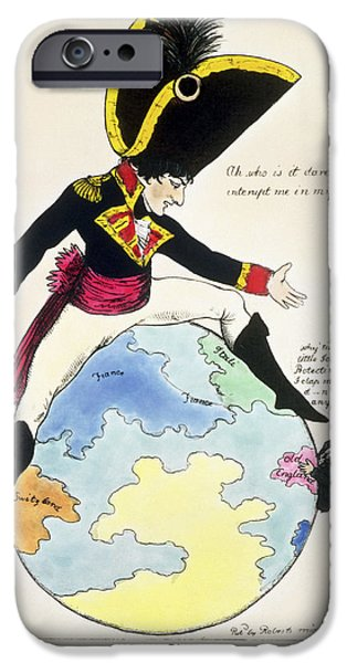 Little iPhone Cases - A Stoppage To A Stride Over The Globe, 1803 Litho iPhone Case by English School