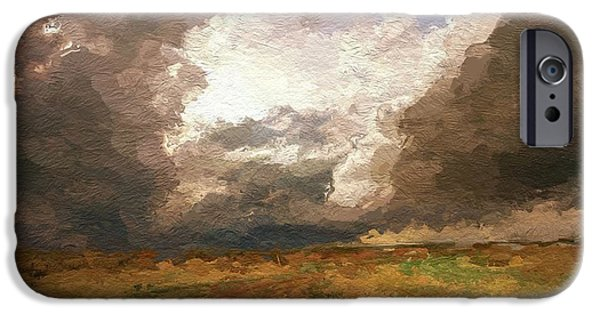 Storm Mixed Media iPhone Cases - A Stormy Day iPhone Case by Stefan Kuhn