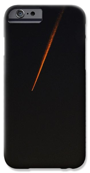 Jet Star iPhone Cases - A Streak in the Dark Sky iPhone Case by Frank Chipasula