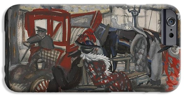 Young Paintings iPhone Cases - A Street In Paris iPhone Case by Celestial Images