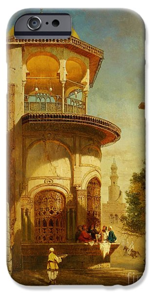 Sahara Sunlight iPhone Cases - A Street Scene In Old Cairo Near The Ibn Tulun Mosque iPhone Case by Celestial Images