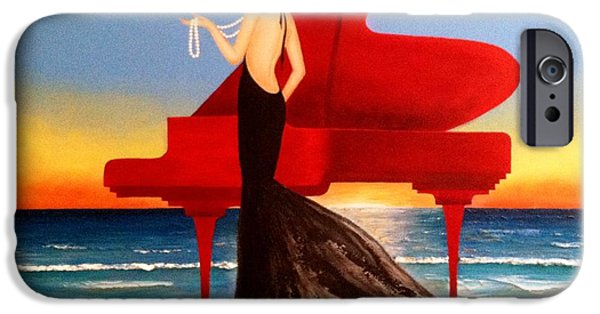 Piano iPhone Cases - A String Of Pearls iPhone Case by Marina Hanson
