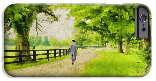 Colonial Man iPhone Cases - A Stroll Along the Bluegrass iPhone Case by Darren Fisher