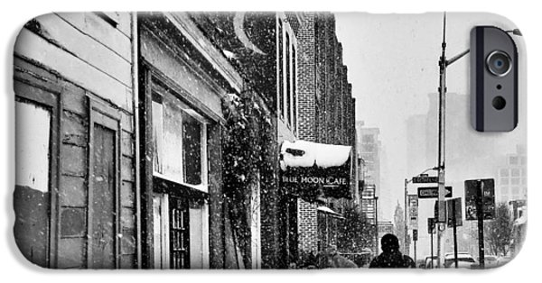 Winter Storm iPhone Cases - A stroll down Aliceanna  iPhone Case by SCB Captures