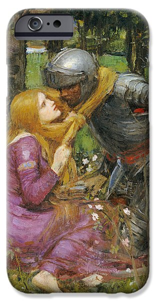 Day iPhone Cases - A study for La Belle Dame sans Merci iPhone Case by John William Waterhouse