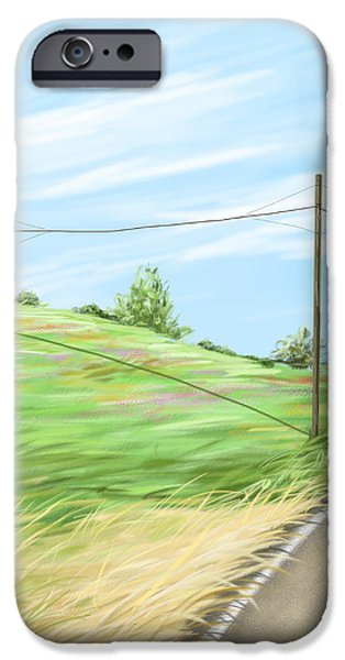 Summer iPhone Cases - A summer day iPhone Case by Veronica Minozzi