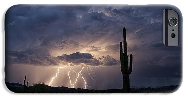 Natural Forces iPhone Cases - A Summer Storm  iPhone Case by Saija  Lehtonen