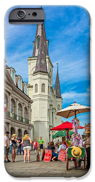 A Sunny Afternoon in Jackson Square iPhone Case by Steve Harrington