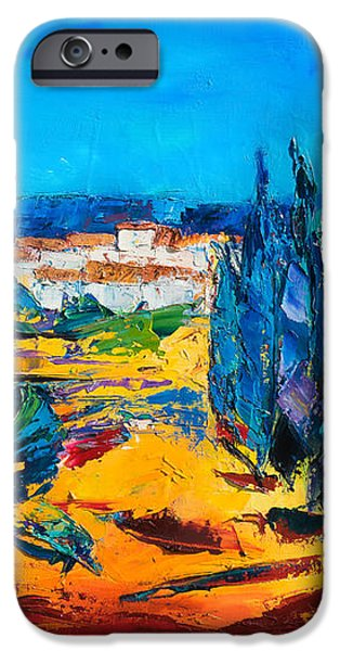 A Sunny Day in Provence iPhone Case by Elise Palmigiani
