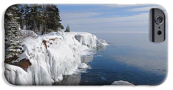 Sandra Updyke iPhone Cases - A Superior Winter Day #2 iPhone Case by Sandra Updyke