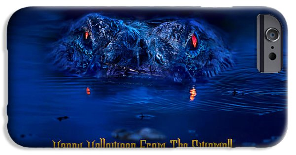 Beauty Mark iPhone Cases - A Swampy Halloween iPhone Case by Mark Andrew Thomas