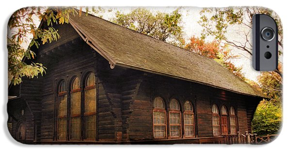 Cabin Window Digital iPhone Cases - A Swedish Cottage iPhone Case by Jessica Jenney