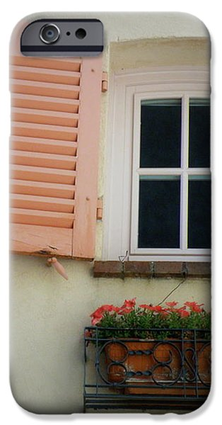 A Sweet Shuttered Window iPhone Case by Lainie Wrightson